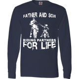 Father And Son Riding Partners For Life T-Shirt Motocross Supercross Dirt Bikes