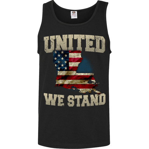 Image of United We Stand Louisiana Limited Edition Print T-Shirt & Apparel - Love Family & Home