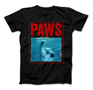PAWS Funny Cat Kitten T-Shirt For Shark And Cat Lovers - Love Family & Home