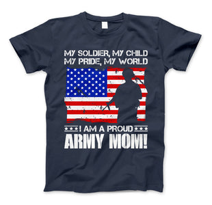 ARMY Mom Military Family T-Shirt I Am A Proud ARMY Mom - Love Family & Home