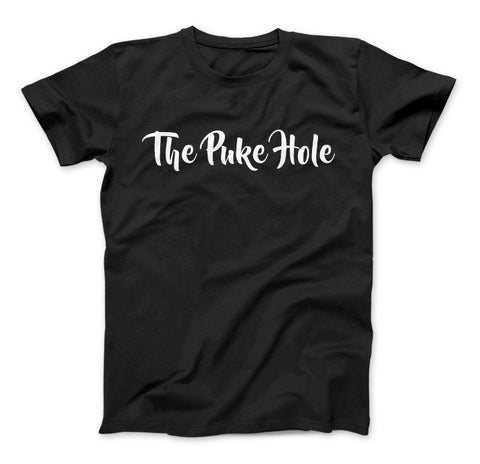 The Puke Hole Original White Print T-Shirt & Apparel