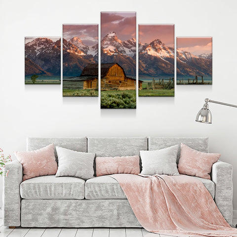 Old Barn 5-Piece Wall Art Canvas - Love Family & Home