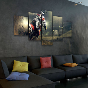 Eat Dirt Motocross Dirt Bike MX 5-Piece Canvas Wall Art Hanging - Love Family & Home