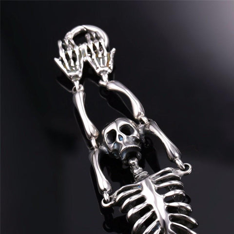 Image of Skeleton Bending Skull Bones Stainless Steel Bracelet - Love Family & Home