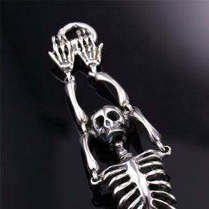 Skeleton Bending Skull Bones Stainless Steel Bracelet - Love Family & Home