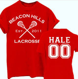 Derek Hale 00 Teen Wolf Beacon Hills Inspired Lacrosse Adult Fashion Apparel - Love Family & Home  - 2