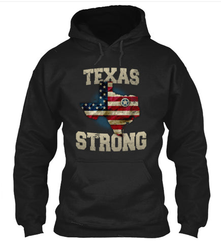 Texas Strong T-Shirt Vintage USA Flag Overlay Texas Strong Design - Love Family & Home