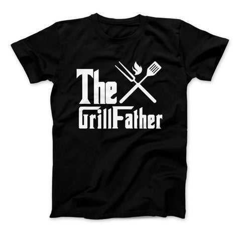 Image of The GrillFather Dads BBQ T-Shirt Father's Day - Love Family & Home