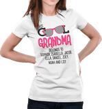 This Cool Grandma Belongs To Personalized T-shirt & Apparel - Love Family & Home  - 1