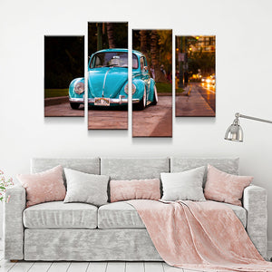 Volkswagen Beetle Bug 4-Piece Wall Art Canvas - Love Family & Home