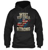 West Virginia Strong WV State Limited Edition Print T-Shirt & Apparel