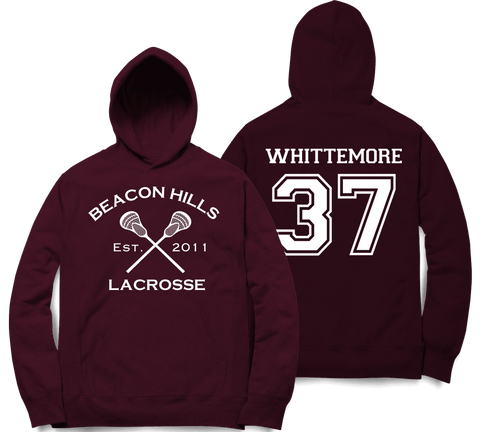 Whittemore 37 Teen Wolf Beacon Hills Inspired Lacrosse Adult Fashion Hoodie Apparel - Love Family & Home
