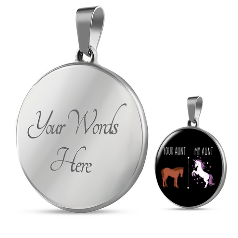 Your Aunt My Aunt Necklace With Engraving Options For Your Favorite Niece