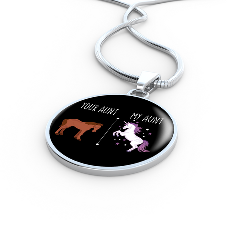 Image of Your Aunt My Aunt Necklace With Engraving Options For Your Favorite Niece