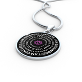 I am safe. I am grounded. I am centered. I am balanced Mantra Necklace