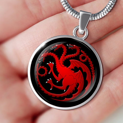 Image of Targaryen Pendant Game of Thrones Jewelry House Targaryen Necklace Daenerys Amulet - Love Family & Home