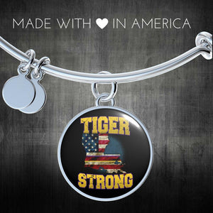 Tiger Strong Purple & Gold bangle - Love Family & Home