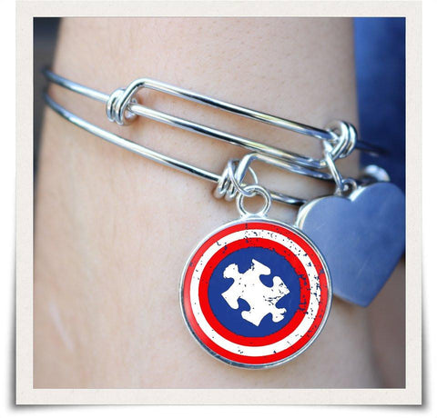 Image of Autism Awareness Bangle - Love Family & Home