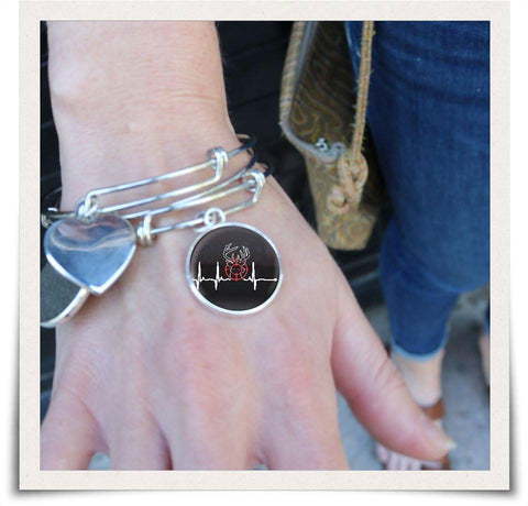 Image of Deer Heartbeat Bangle - Love Family & Home