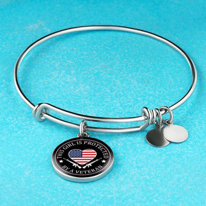 This Girl Is Protected By A Veteran Bangle - Love Family & Home