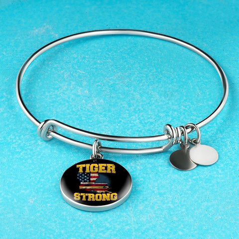 Image of Tiger Strong Purple & Gold bangle - Love Family & Home