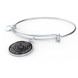 Mantra Bangle I Am Balanced I Am Safe I Am Grounded Yoga Gift Motivational Jewelry - Love Family & Home