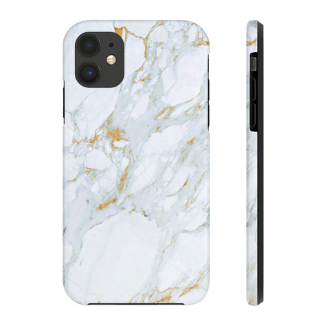 Image of iPhone 11 Case Mate Tough Phone Case, White Marble Phone Case - Love Family & Home
