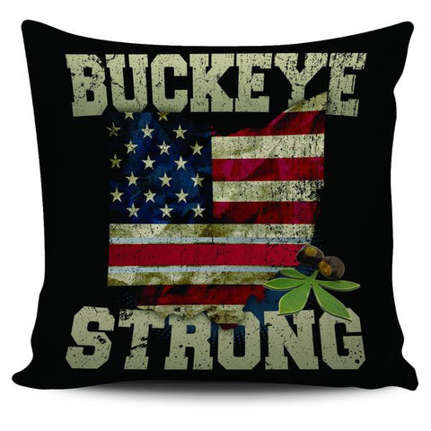 "Ohio State Flag Buckeye Strong 18"" Pillow Case - Love Family & Home"