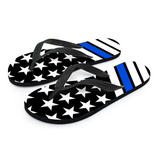 Thin Blue Line Flip Flops - Spicy Prints