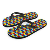 Ladies Flip Flops Autism Awareness - Spicy Prints