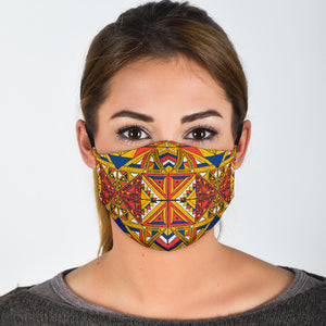 Ethnic Design Face Mask With Filters - Adult and Youth Sizes - Love Family & Home