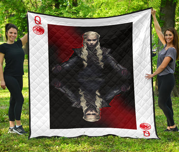 Daenerys Targaryen Queen Card Quilt - Love Family & Home