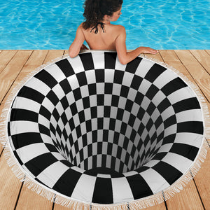 Checkered Hole 3D Beach Blanket - Love Family & Home