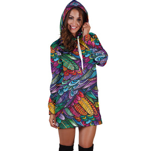 Boho Feather 3 Hoodie Dress - Love Family & Home