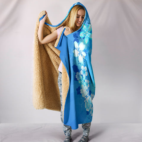 Image of Peace Hippie Blue Hooded Blanket - Love Family & Home