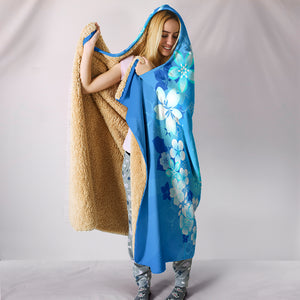 Peace Hippie Blue Hooded Blanket - Love Family & Home