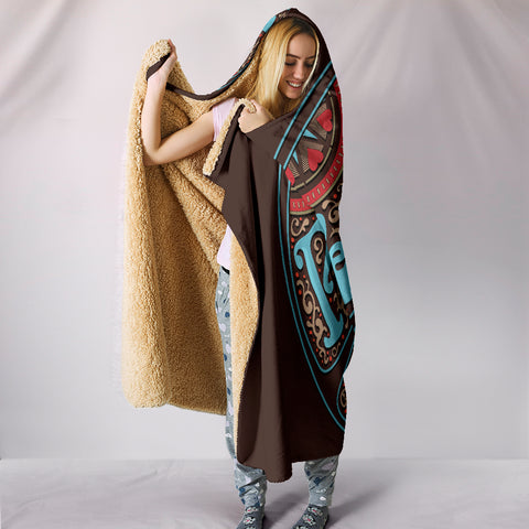 Image of Peace Hippie Love Hooded Blanket - Love Family & Home