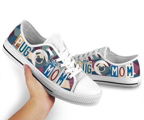Image of Pug Mom Low Top Shoes