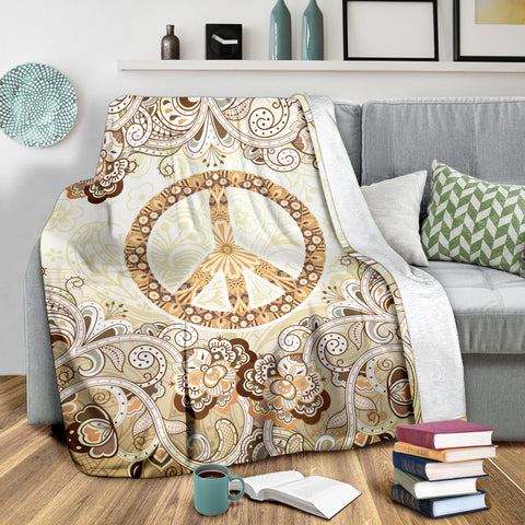 Image of Hippie Floral Peace Blanket - Love Family & Home