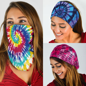 Tie Dye Face Mask Neck Gaiters - 3 Pack - Love Family & Home