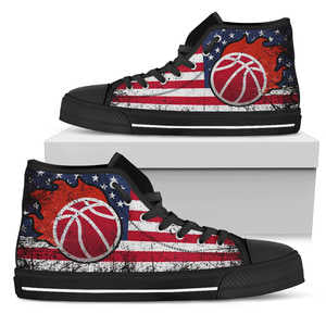Basketball Women High Top Shoes - Love Family & Home