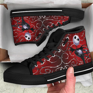 Nightmare Before Christmas Ladies Canvas High Tops Jack Skellington - Love Family & Home