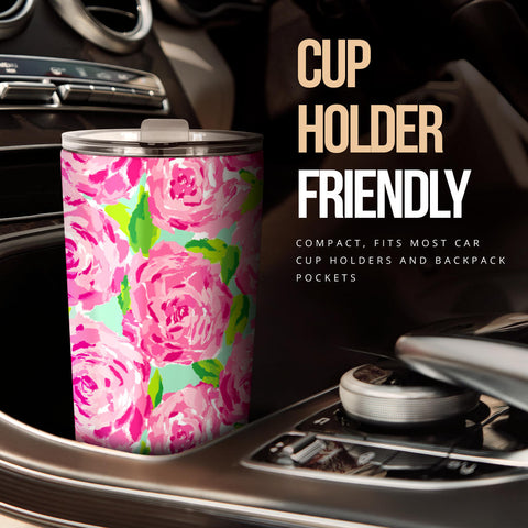 Image of Pink Flower Tumbler - Love Family & Home