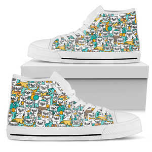 Pug Lover Shoes - Women's High Top - Love Family & Home