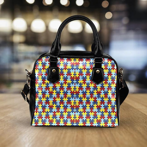 Autism Awareness Leather Handbag - Love Family & Home