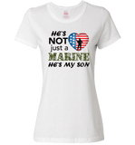 He's Not Just A MARINE He's My SON Apparel - Love Family & Home  - 5