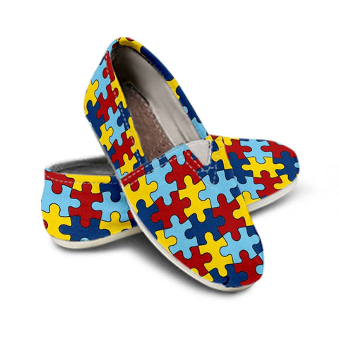 Ladies Casual Shoes Autism Awareness EXP - Spicy Prints