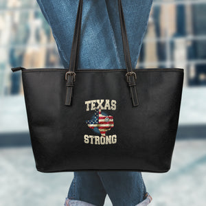 Texas Strong LG Leather Tote - Love Family & Home