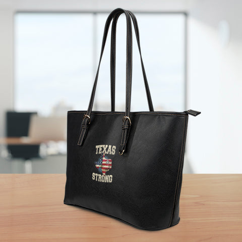 Image of Texas Strong LG Leather Tote - Love Family & Home