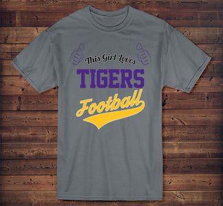 This Girl Loves Tigers Football T-Shirt